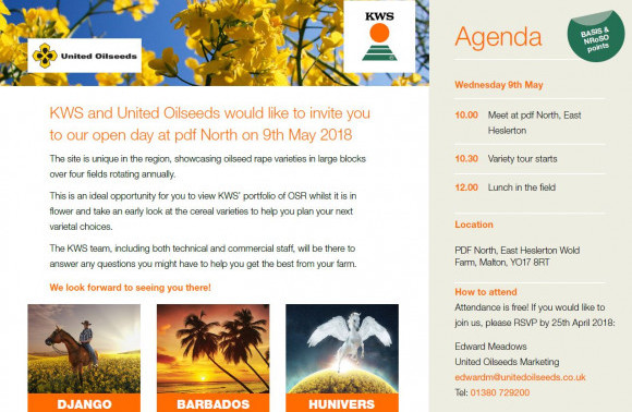 Come to our 9 May 2018 Open Day in East Heslerton N.Yorks  image