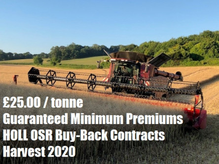 £25.00/tonne Guaranteed Minimum Premiums with Innovative New HOLL Contracts for 2020