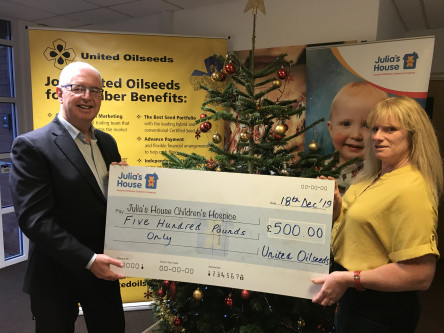 UOM donates to Julia's House Children's Hospices