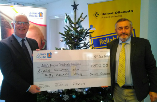 United Oilseeds helps support Julia's House Children's Hospices